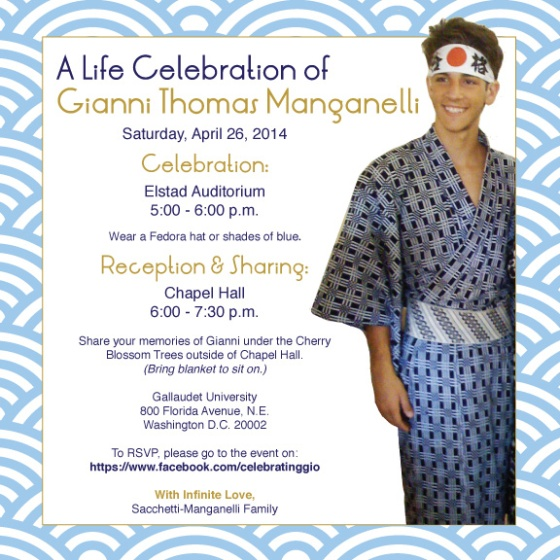 Join us in celebration of Gianni Manganelli (WASHINGTON D.C.)